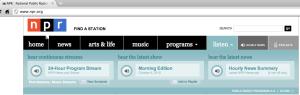 NPR content online