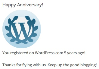 Blog Milestone - 5 years and counting